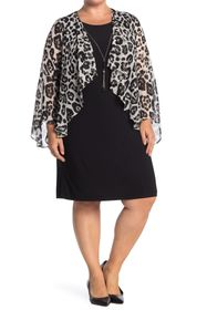 TASH + SOPHIE Leopard Printed Jacket Dress