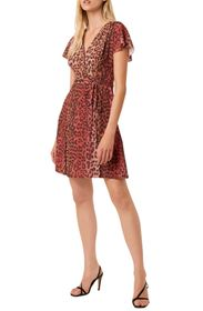 French Connection Annalia Leopard Print Wrap Dress