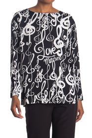 LOVE Moschino Long Sleeve Blouse With Music Print
