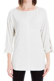 Max Studio Tie Sleeve French Terry Tunic