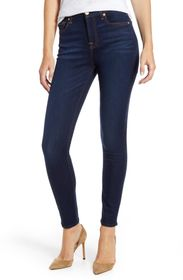 7 For All Mankind Slim Illusion High Waist Ankle S