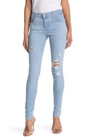 Levi's 710 Super Skinny Ripped Jeans