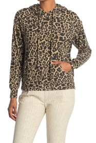 FOR THE REPUBLIC Cheetah Print Long Sleeve Hooded