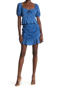 BCBGeneration Double Tie Front Mini Woven Skirt