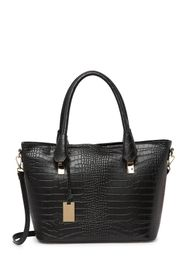 CHRISTIAN LAURIER Nico Croc Embossed Leather Tote
