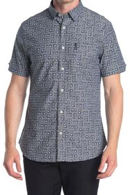 Ben Sherman Cassette Tape Print Short Sleeve Shirt
