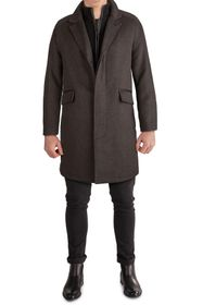 Cole Haan Long Classic Wool Blend Topper Coat