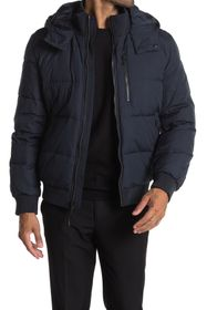 Cole Haan Soft Touch Hooded Bomber Jacket