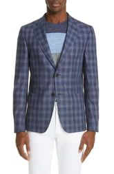 Z Zegna Trim Fit Stretch Plaid Sport Coat