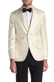 Kenneth Cole Reaction Jacquard Cream Two Button No