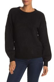 Max Studio Cozy Ribbed Puff Sleeve Sweater