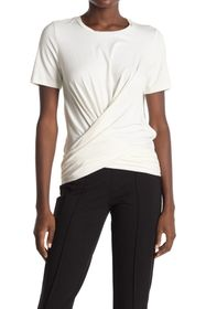 Donna Karan Banded Wrap Knit Top