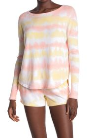 Theo and Spence Creamcicle Stripe Pullover