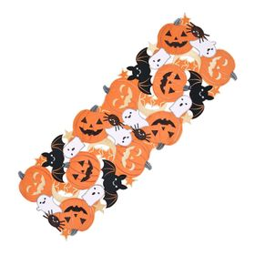 Celebrate Halloween Together Cut-Out Table Runner