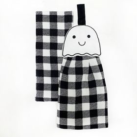 Celebrate Halloween Together Gingham Ghost Tie-Top