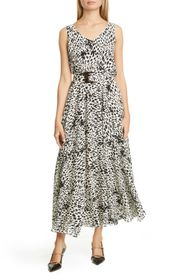 Lafayette 148 New York Memphis Belted Silk Maxi Dr