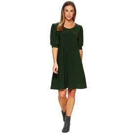 Womens MSK Puff Elbow Sleeve Shift Dress and Mask
