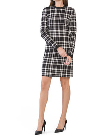 JUDE CONNALLY Made In Usa Zip Front Ponte Dress