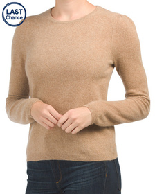 ONLY MINE Puff Shoulder Cashmere Pullover Sweater