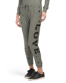 CHASER Cozy Knit Cuffed Drawstring Joggers