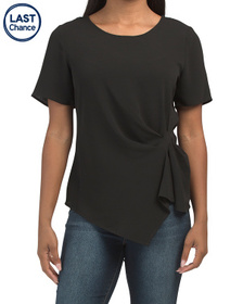 VINCE CAMUTO Side Gather Asymmetrical Top