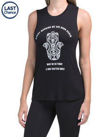 MIKEN Buddha Quote Muscle Tank