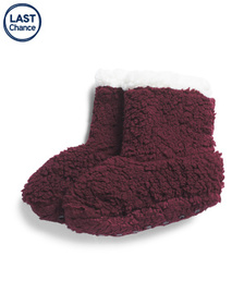 Reveal Designer Cozy Sherpa Slippers With Gripper