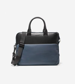 Cole Haan GRANDSERIES Nylon and Leather Attache