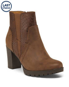 NATURALIZER Snake Lug Sole Booties