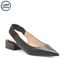 NAPOLEONI Made In Italy Leather Slingback Pointy T
