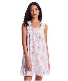 Eileen West Rose Print Woven Chemise