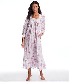 Eileen West Aquarelle Rose Woven Robe
