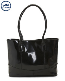 AMERILEATHER Patent Leather Casual Tote