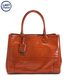 CLAUDIA FIRENZE Made In Italy Leather Croco Satche