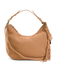 LUCKY Leather Hobo With Crossbody Strap