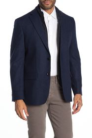 Tommy Hilfiger Weave Navy Two Button Notch Lapel S