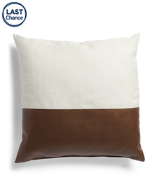CANAAN Made In Usa 22x22 Linen And Leather Look Pi