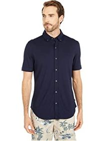 Nautica Button Front Jersey Polo