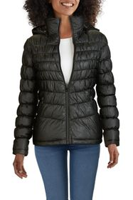 KENNETH COLE Hooded Front Zip Puffer Jacket