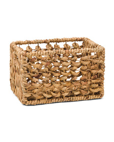 VIET05 Small Natural Tote With Cut Out Handles