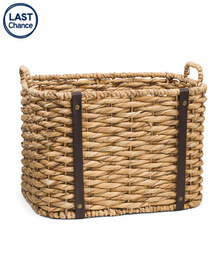 VIET05 Medium Twisted Rectangle Basket With Handle
