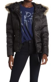 G-STAR RAW Whistler Faux Fur Puffer Jacket