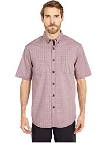 Dickies Relaxed Fit Flex Short Sleeve Plaid Shirt