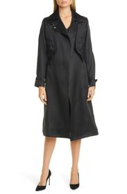 Max Mara Maesa Silk Trench Coat with Removable Ves