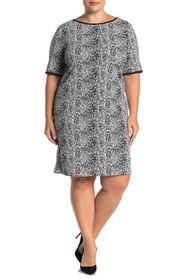 Taylor Snake Print Short Sleeve Knit Dress