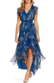 Vince Camuto Weeping Willows Tie Waist High/Low Dr