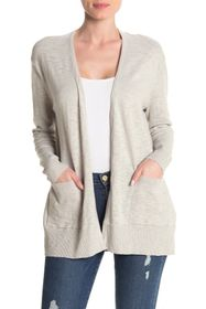 Madewell Open Front Pocketed Slub Cardigan