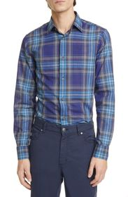 Z Zegna Extra Slim Plaid Sport Shirt