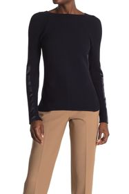 Donna Karan Crew Neck Knit Sweater
