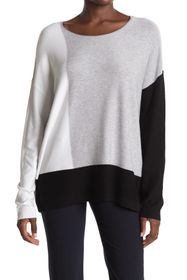 Donna Karan Colorblock Knit Sweater